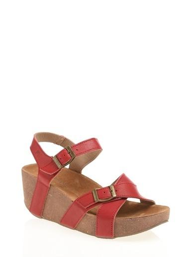 Lumberjack Lumberjack  Dolgu Topuklu  Sandalet Kırmızı